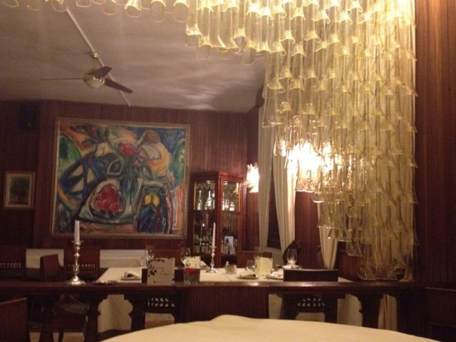 The dining room of Balzi Rossi