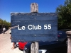 The weathered sign of Club 55
