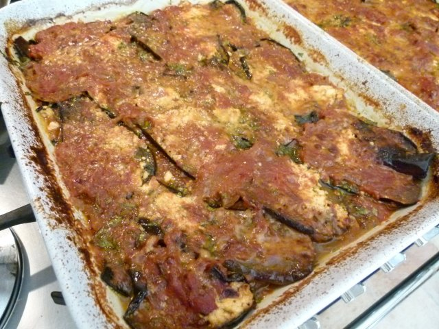 Eggplant Gratin fully Cooked