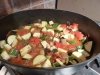 Cooking the veggies