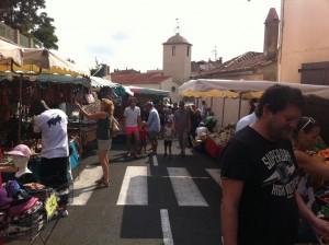 street of ramatuelle during market on thursday