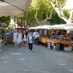 St. Tropez Market on the Place des Lices