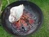 Grilling the leg of lamb