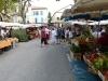 Main road through market