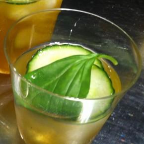 Winter cocktail:  Persimmon Gin Smash