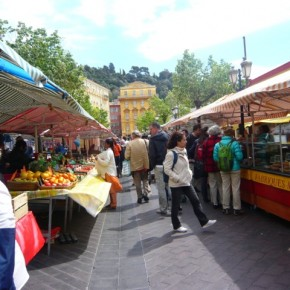 """Stormy weather over the """"cours Saleya"""" market in Nice"""